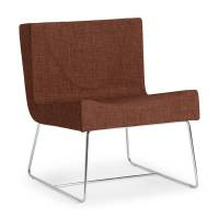 Amsterdam loungestol 750x600x600mm brun