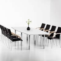 Consensus konferencebord 280x100cm med hvid bordplade