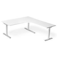 Profis 52H hæve-sænke bord 1800x1800mm hvid, HVIDT stel