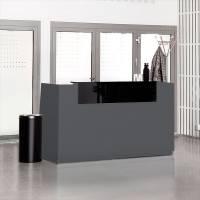 Libra Receptionsskranke komplet med skrivebord 173 cm antracit