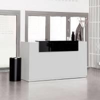 Libra Receptionsskranke komplet med skrivebord 173 cm lys grå