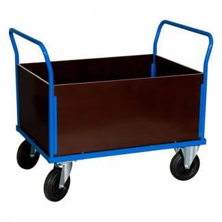 Universalvogn med høj kurv 900x1000x700mm blå