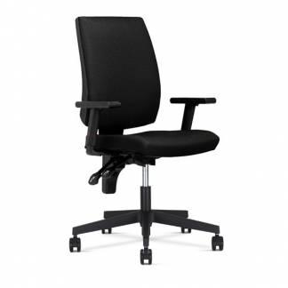 Taktik kontorstol med armlæn sort