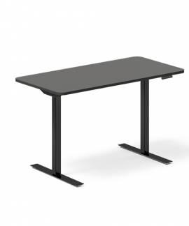 Office hæve-sænkebord 120x60cm antracit med sort stel