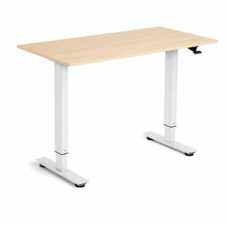 Flexidesk hæve-sænke bord 120x60cm eg med hvidt stel