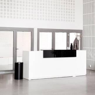 Libra Reception skranke med hæve-sænkebord 260 cm hvid